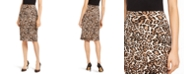 INC International Concepts I.N.C. Animal-Print Scuba Skirt, Created for Macy's